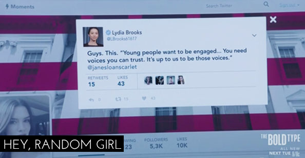 The Bold Type 1x04 - Jane Twitter