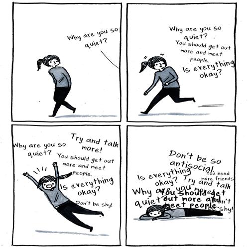 Debbie Tung - estereótipos para introvertidos