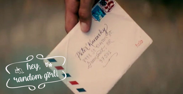Para Todos os Garotos que Já Amei - carta